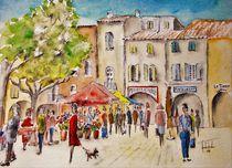 Wochenmarkt in Nyons by Theodor Fischer