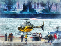 Manhattan NY Heliport by Susan Savad