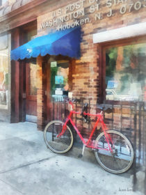 Hoboken NJ - Bicycle By Post Office by Susan Savad