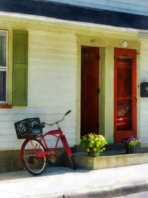 Delivery Bicycle by Two Red Doors von Susan Savad