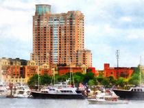Maryland - Boats at Inner Harbor Baltimore MD by Susan Savad