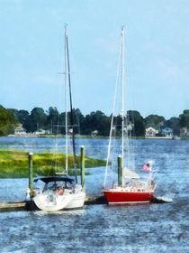 Norwalk CT - Two Docked Sailboats  von Susan Savad