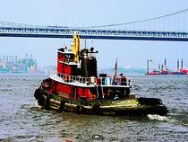 Tugboat at Penn's Landing von Susan Savad
