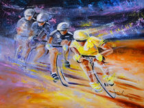 Defying Time In A Yellow Jersey von Miki de Goodaboom