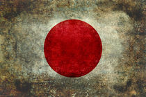 Flag of Japan retro grunge style by Bruce Stanfield