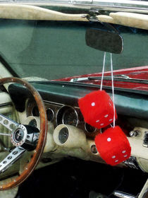 Red Fuzzy Dice in Converible by Susan Savad