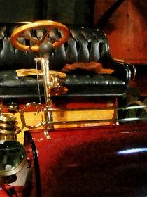 Wooden Steering Wheel on Car by Susan Savad