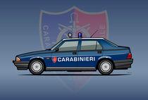 Carabinieri Alfa Romeo 75 Police Car von monkeycrisisonmars