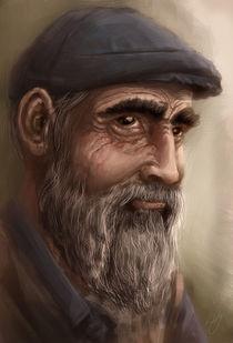 old man portrait von Renato Klieger Gennari