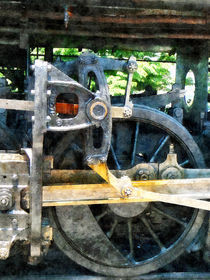 Train Wheel Closeup by Susan Savad