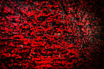 Red Colour Abstract Wood and Rain Water von John Williams