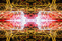 Light Trails Lightpainting Abstract by John Williams