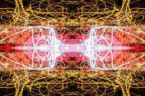 Light Trails Lightpainting Abstract von John Williams