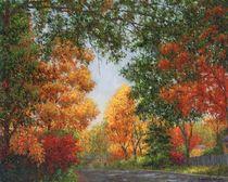 Autumn in the Suburbs von Susan Savad