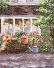 Flower Pots and a Flower Barrel von Susan Savad