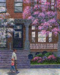 Philadelphia Street in Spring von Susan Savad