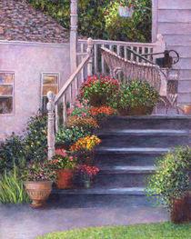 Porch with Watering Cans von Susan Savad