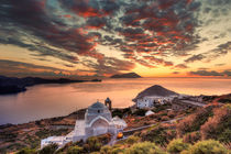 The sunset from the castle of Plaka in Milos, Greece by Constantinos Iliopoulos