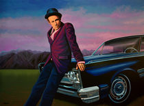 Tom Waits painting von Paul Meijering