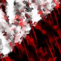 Schwarz weiß trifft rot Version 6 von Christine Bässler