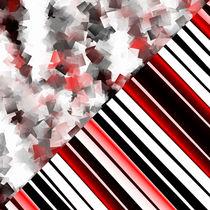 Schwarz weiß trifft rot Version 7 von Christine Bässler