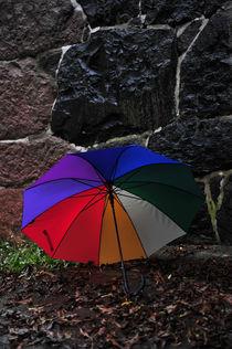 Umbrella Against the Wall von Randi Grace Nilsberg