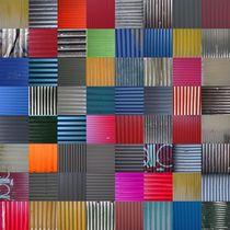 House wall patchwork Reykjavík No. 0 von Jürgen Weckler