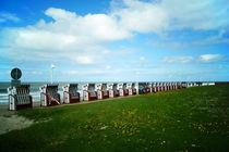Strandkörbe auf Norderney von Sabine Radtke