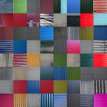 House wall patchwork Reykjavík No. 5 von Jürgen Weckler