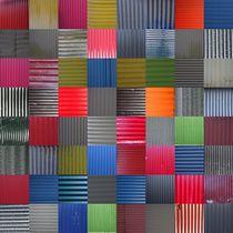 House wall patchwork Reykjavík No. 10 von Jürgen Weckler