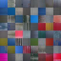 House wall patchwork Reykjavík No. 27 von Jürgen Weckler