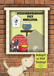 Congratulations on New Pet Adoption Pet Storefront Animals  by dragonfire-graphics