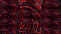 Spirals Extending Orange von florin