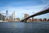 Brooklyn Bridge & One World Trade Center by pixelkunst