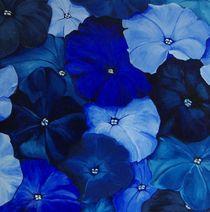 Blaue Petunien by Marion Sehr