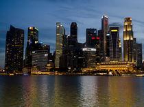 Singapore Skyline at Dusk von James Menges