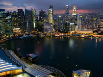 Marina Bay Singapore Night from above von James Menges