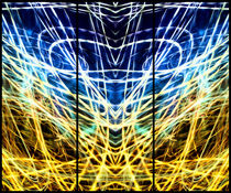 Light Painting Abstract Triptych #1 von John Williams