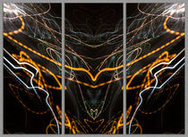 Light Painting Abstract Triptych #2 by John Williams