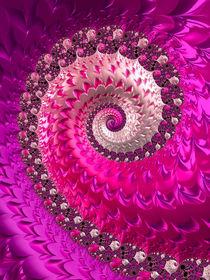 Spirale fraktaler Luxus in rosa pink und rot by Matthias Hauser