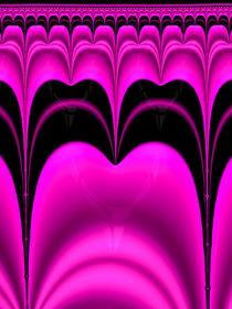 Fraktaler Zahn pink und schwarz von Matthias Hauser