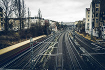 S-Bahn passing by. by mainztagram