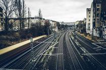 S-Bahn passing by. von mainztagram