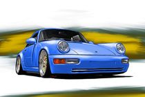 Porsche  911 (964) Carrera blue by rdesign