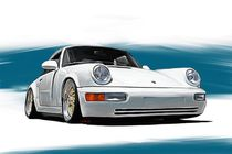 Porsche 911 Carrera 964 -weiß by rdesign