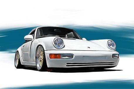 Porsche-911-964-weiss