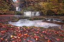 Sgwd Ddwli Isaf waterfalls South Wales von Leighton Collins