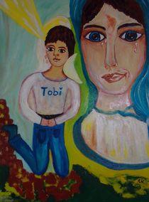 GEDEMÜTIGTE MARIA MIT KIND NAMENS TOBI von Ingrid Witkowitsch