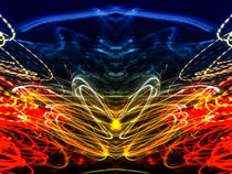Lightpainting Abstract Symmetry UFA Prints #1 by John Williams