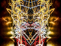 Lightpainting Abstract Symmetry UFA Prints #2 von John Williams